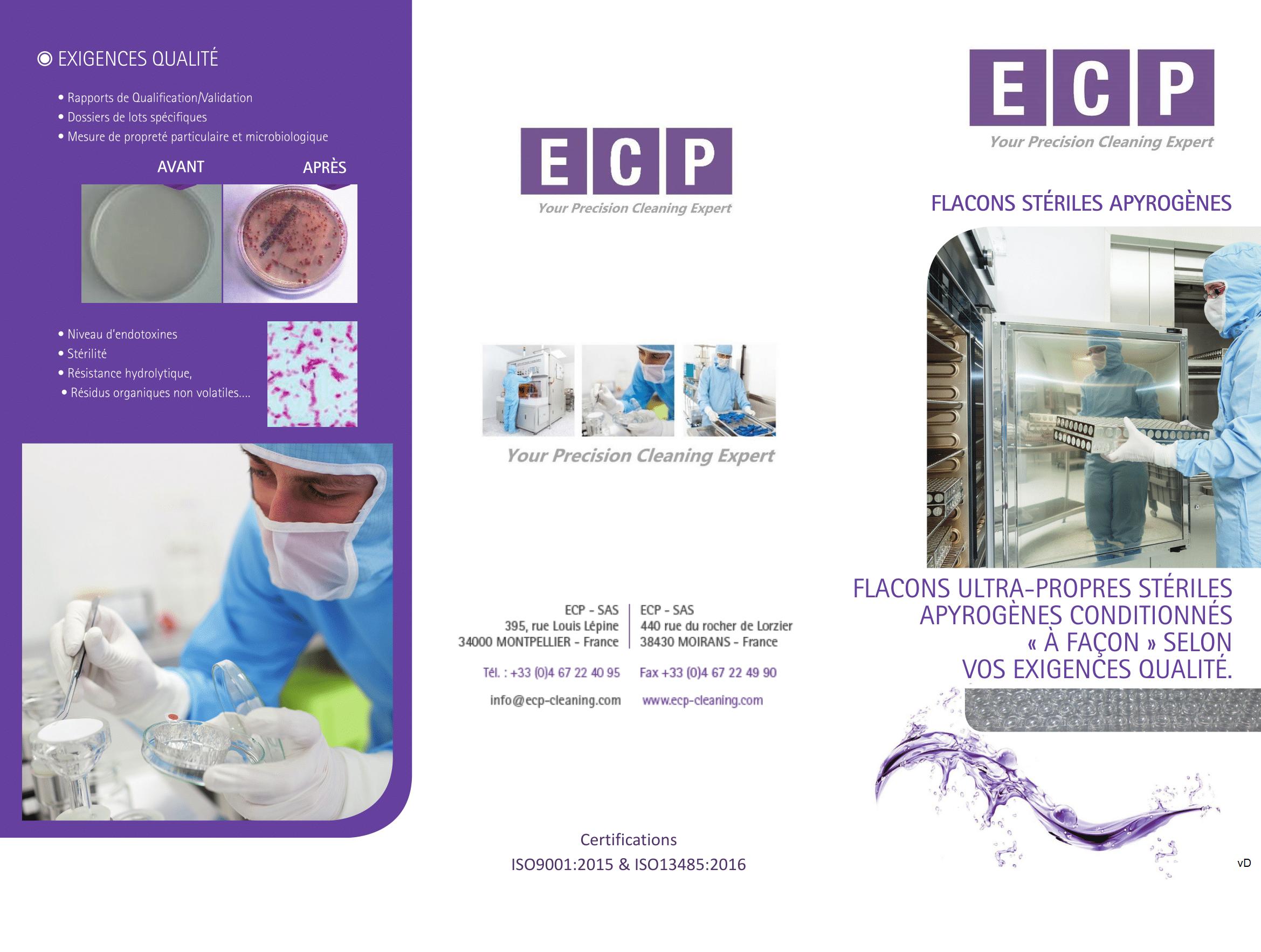 flyer-ECP-flacons-stériles-apyrogènes