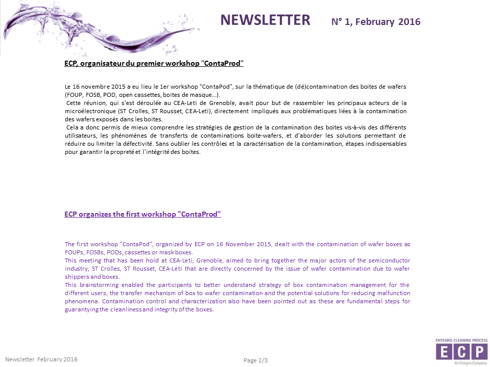 NEWSLETER N°1 2016 S2