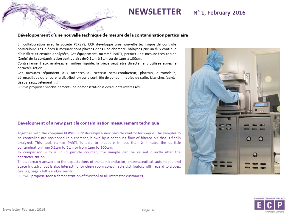 NEWSLETER N°1 2016 S3