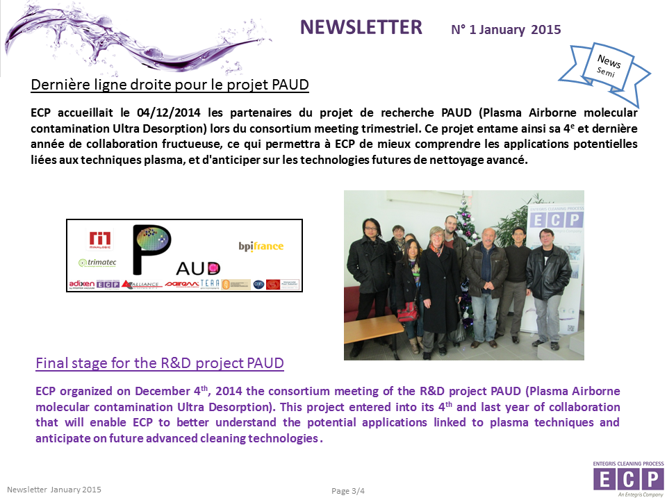 NEWSLETER N°1 2015 S3