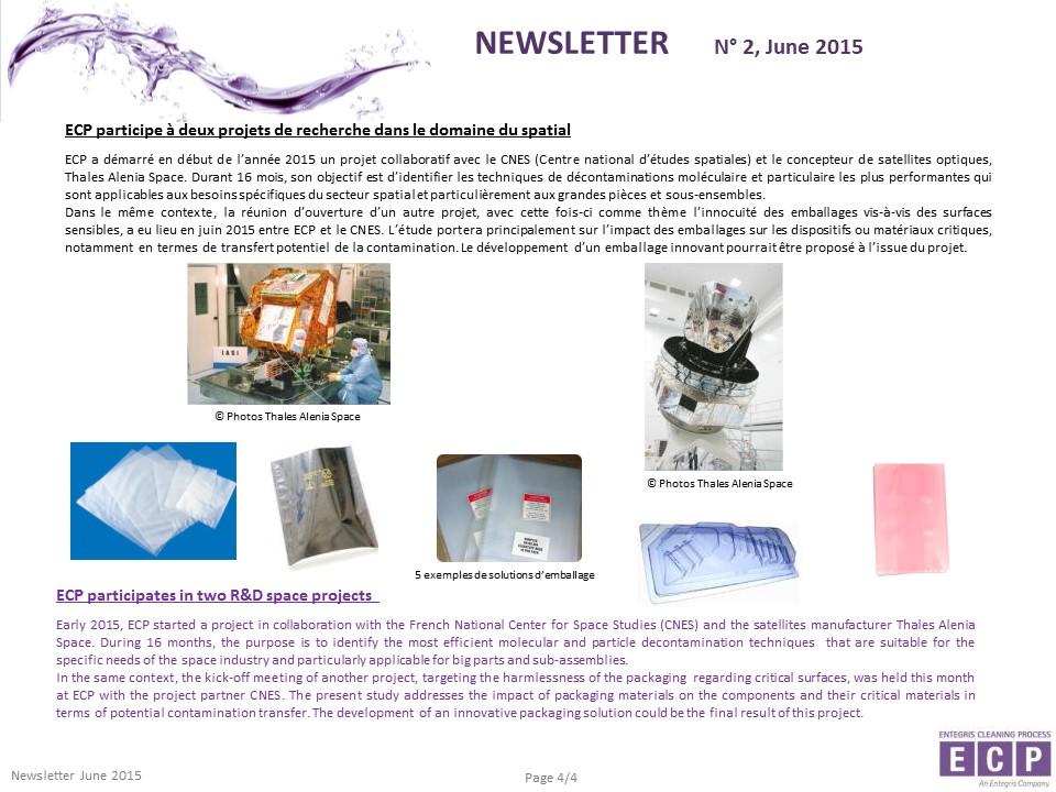 NEWSLETER N°2 2015 S4