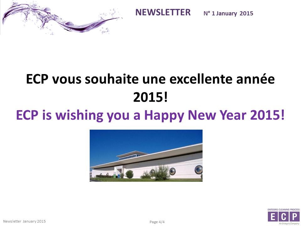NEWSLETER N°1 2015 S4